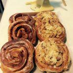 Giant cinnamon buns from Bodega Bakery