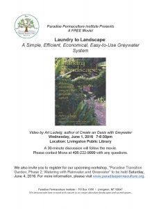 Movie Presentation_Laundry to Landscape-PPI 1Jun16 flyer